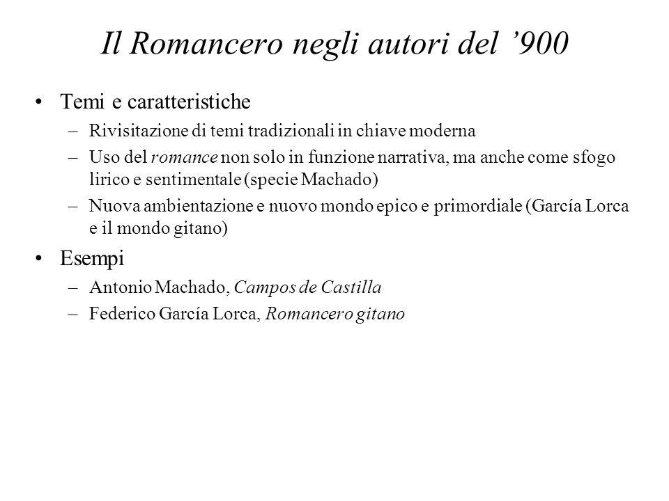Il Romancero negli autori del '900