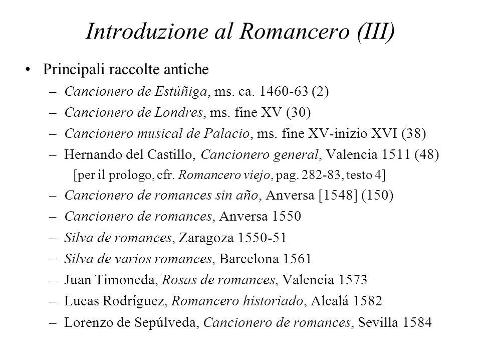 Introduzione al Romancero (III)
