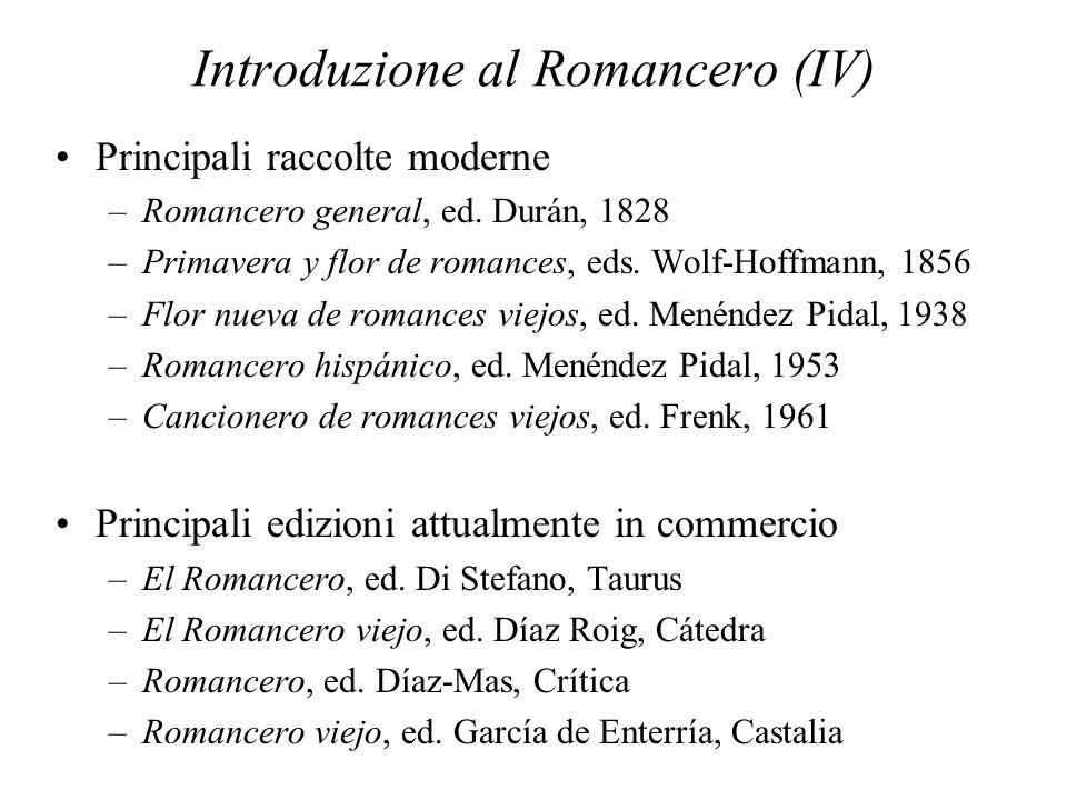 Introduzione al Romancero (IV)