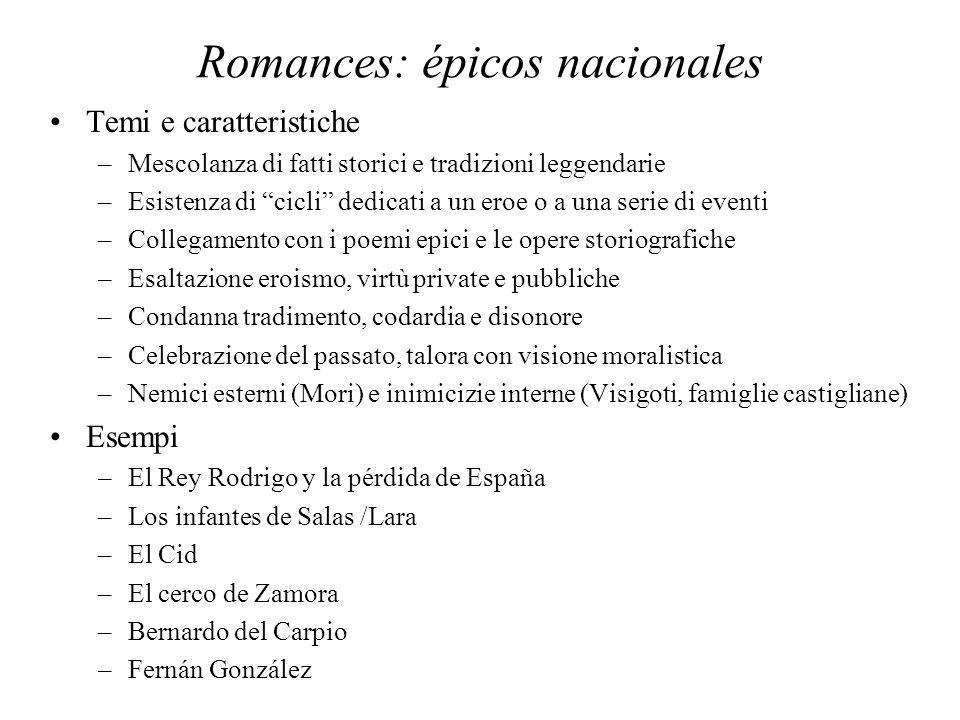 Romances: épicos nacionales