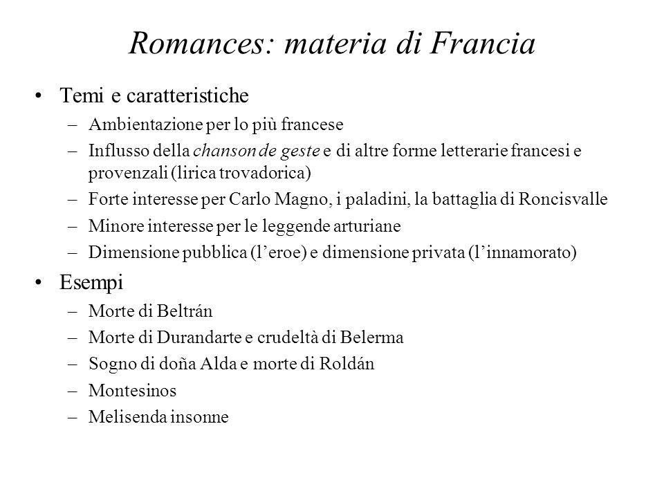 Romances: materia di Francia