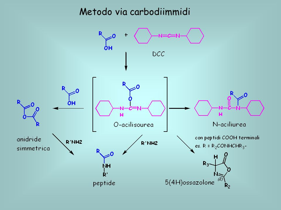 Metodo via carbodiimmidi