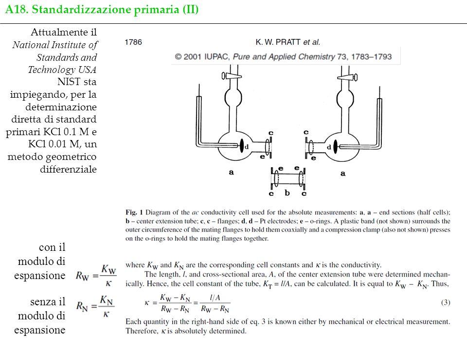 A18. Standardizzazione primaria (II)