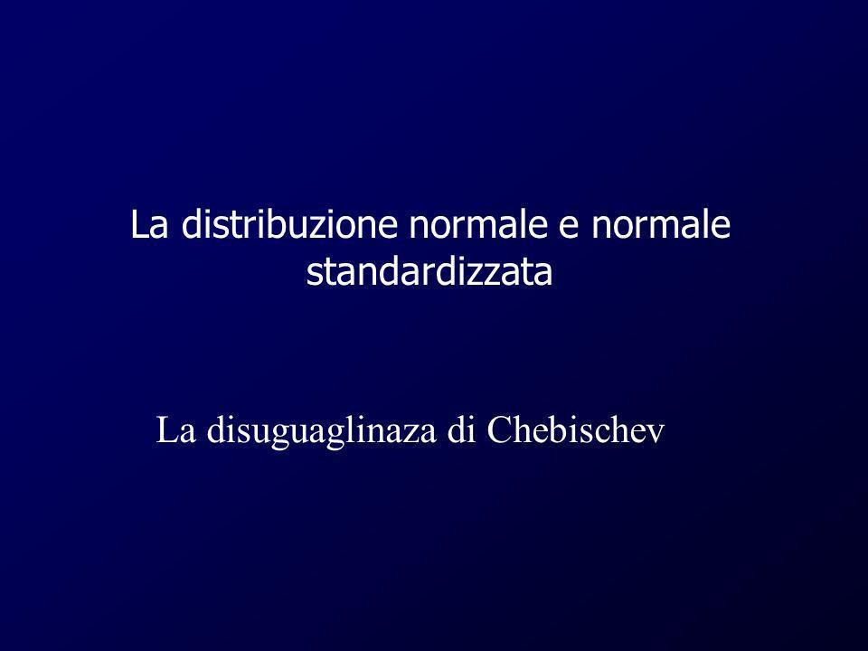 La distribuzione normale e normale standardizzata