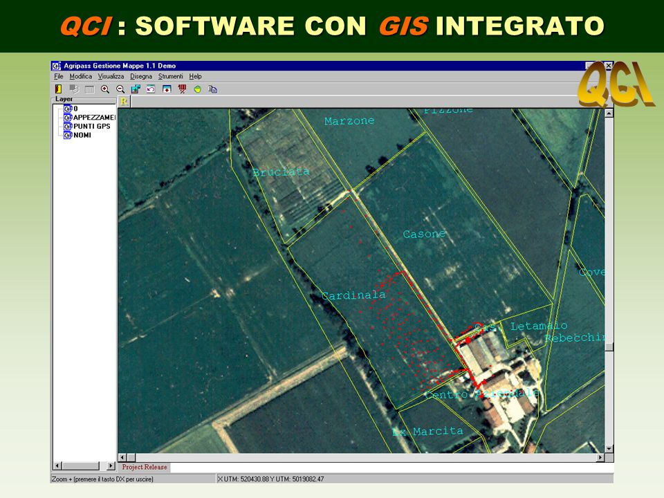 QCI : SOFTWARE CON GIS INTEGRATO