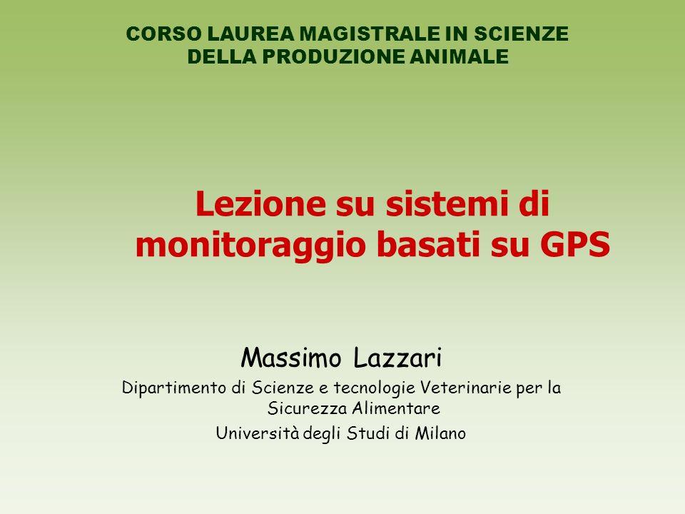 Lezione su sistemi di monitoraggio basati su GPS