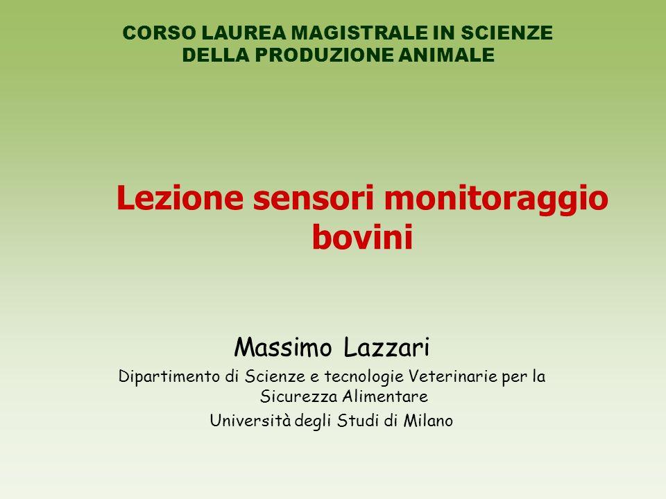 Lezione sensori monitoraggio bovini