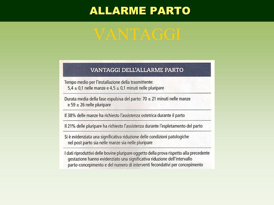 ALLARME PARTO VANTAGGI