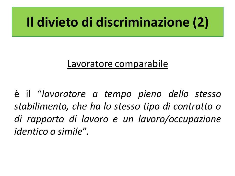 Il divieto di discriminazione (2)