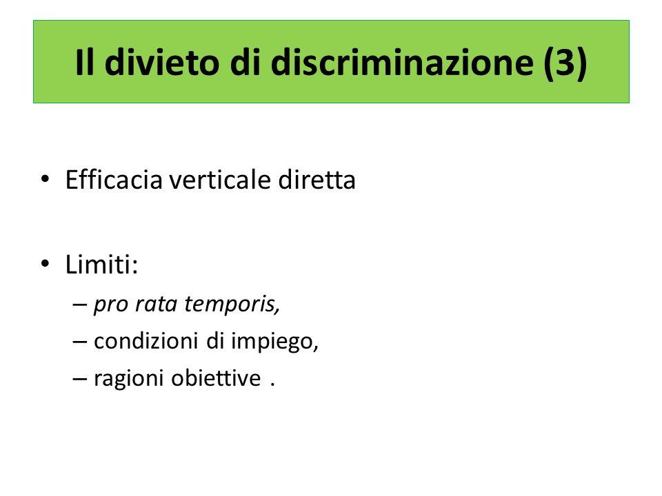Il divieto di discriminazione (3)
