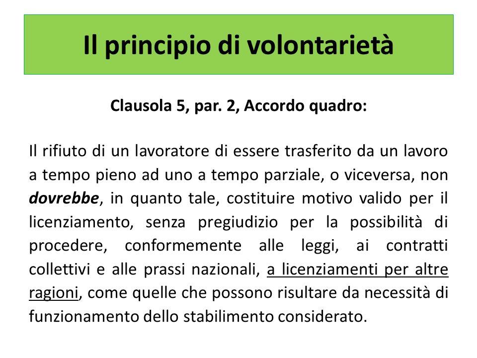 Il principio di volontarietà