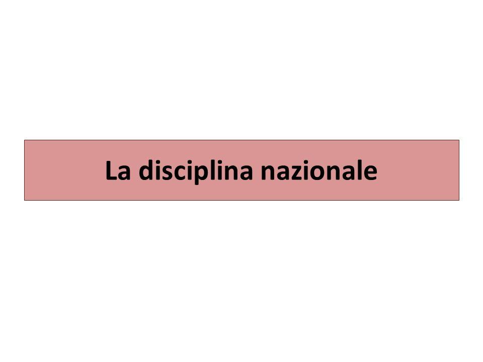 La disciplina nazionale