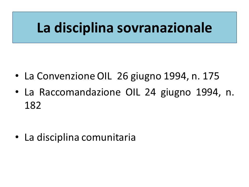 La disciplina sovranazionale
