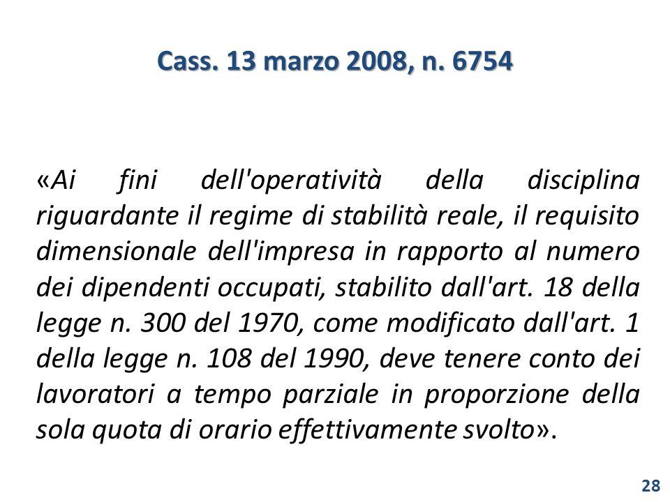 Cass. 13 marzo 2008, n. 6754