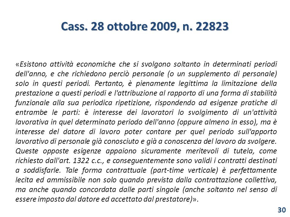 Cass. 28 ottobre 2009, n. 22823