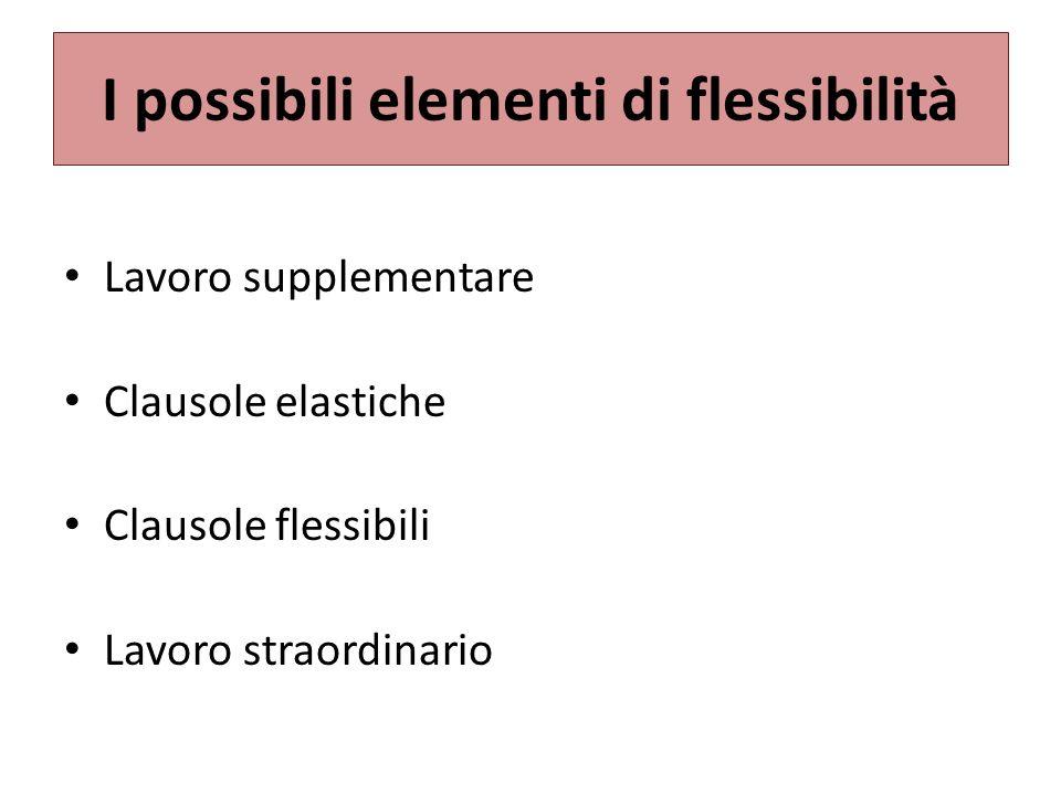 I possibili elementi di flessibilità
