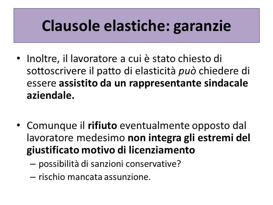 Clausole elastiche: garanzie