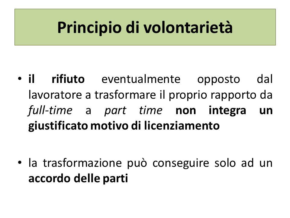 Principio di volontarietà