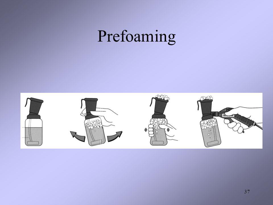Prefoaming