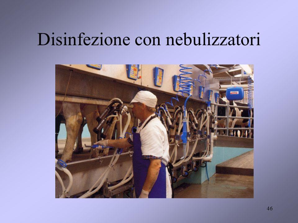 Disinfezione con nebulizzatori