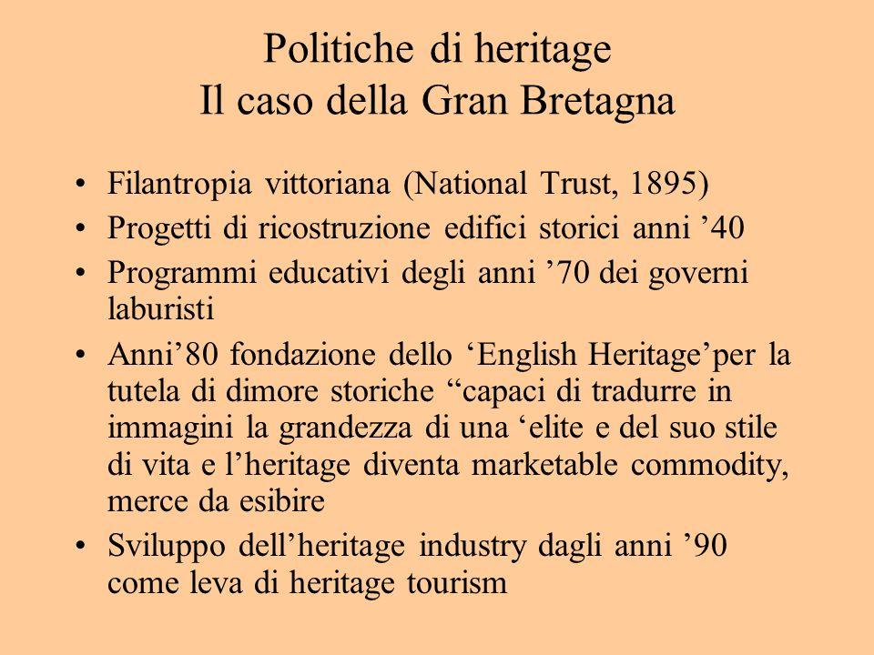 Politiche di heritage Il caso della Gran Bretagna