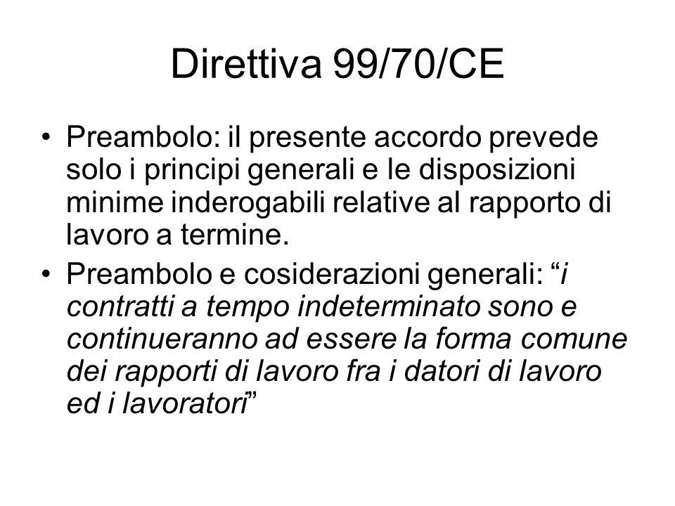 Direttiva 99/70/CE