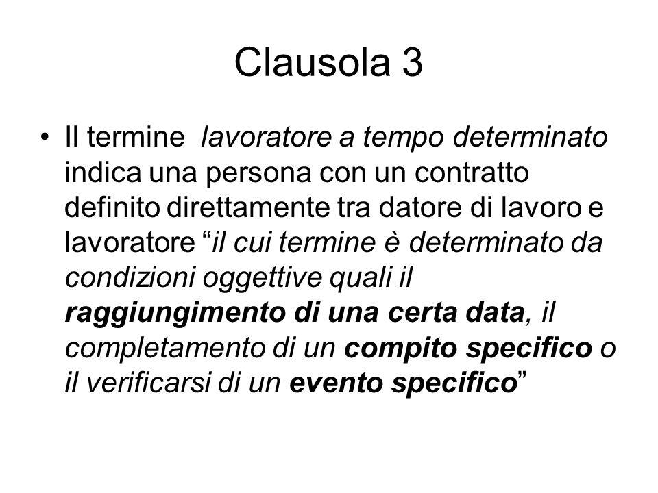 Clausola 3