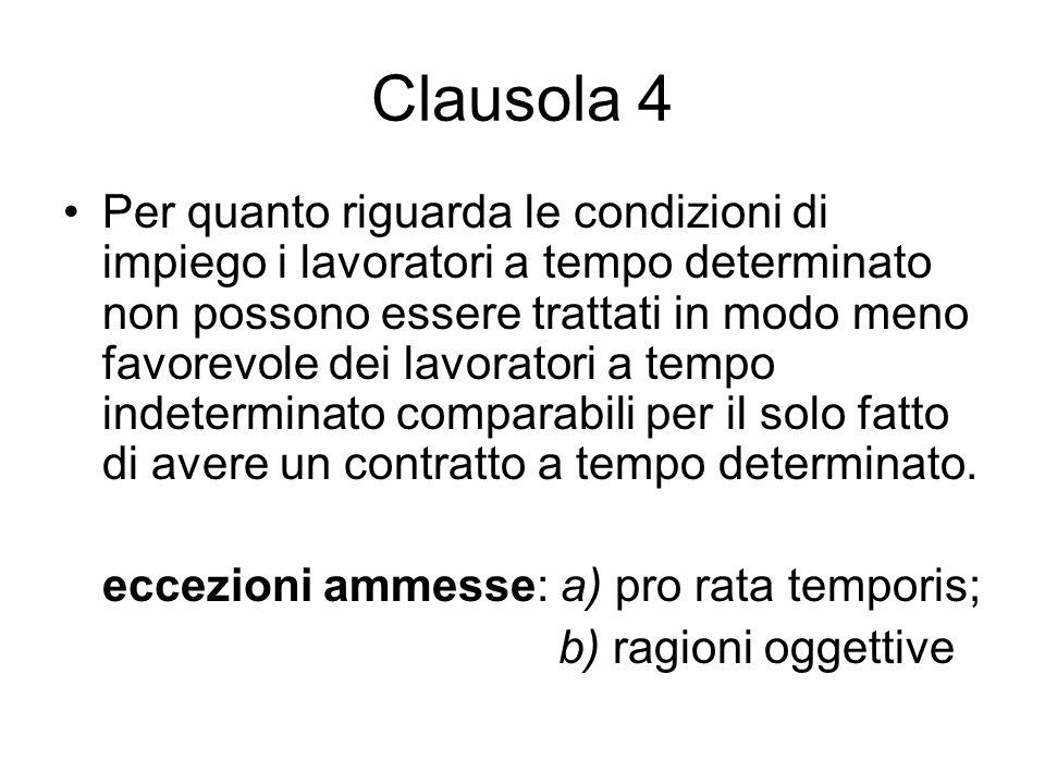 Clausola 4