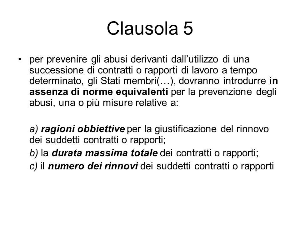 Clausola 5