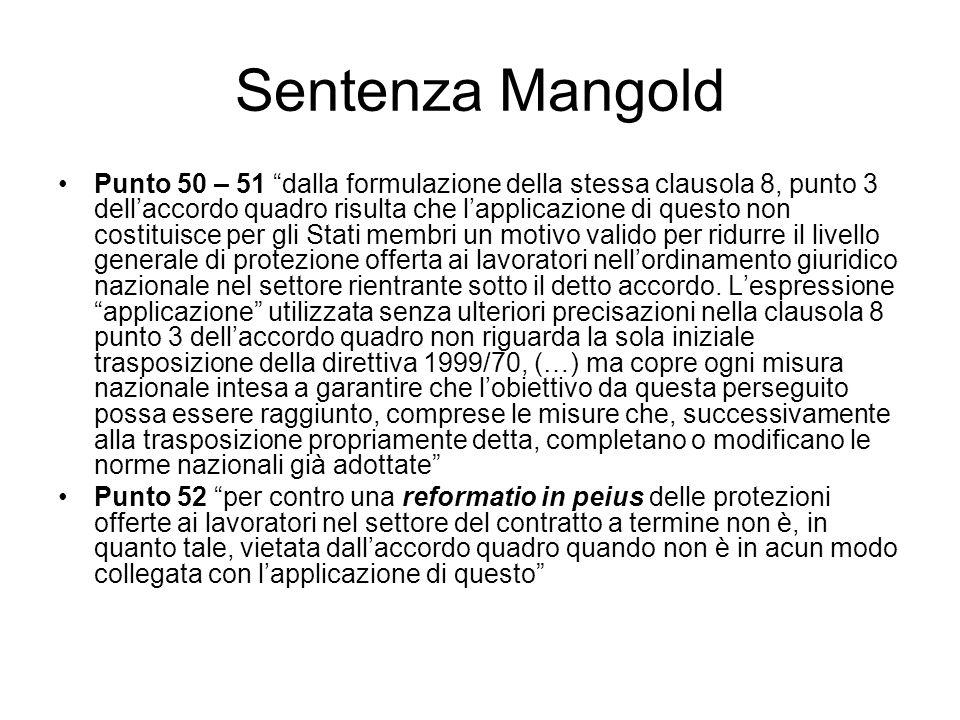 Sentenza Mangold