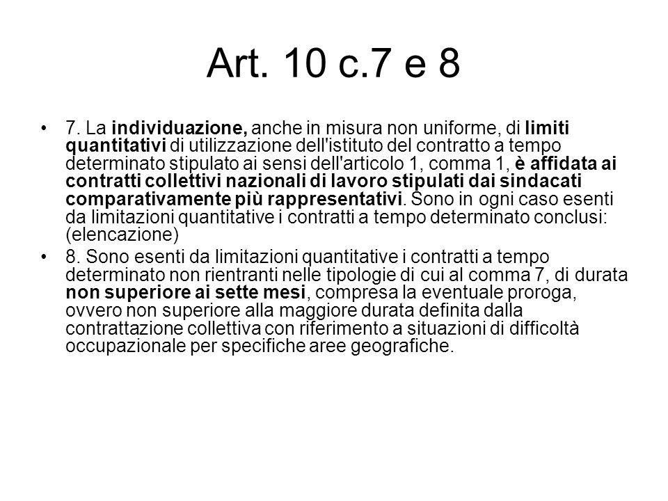 Art. 10 c.7 e 8