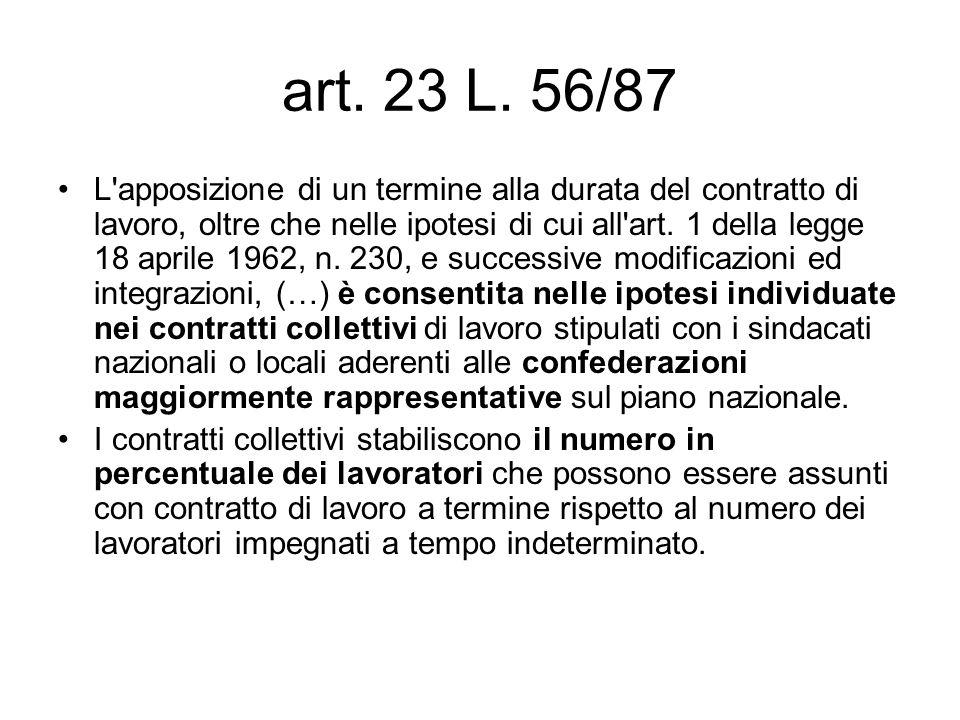 art. 23 L. 56/87