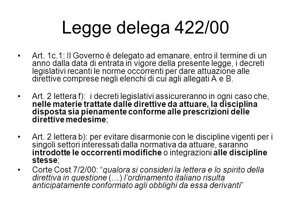 Legge delega 422/00