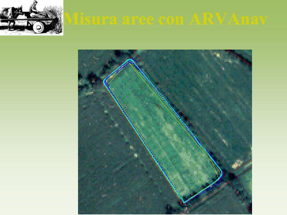 Misura aree con ARVAnav