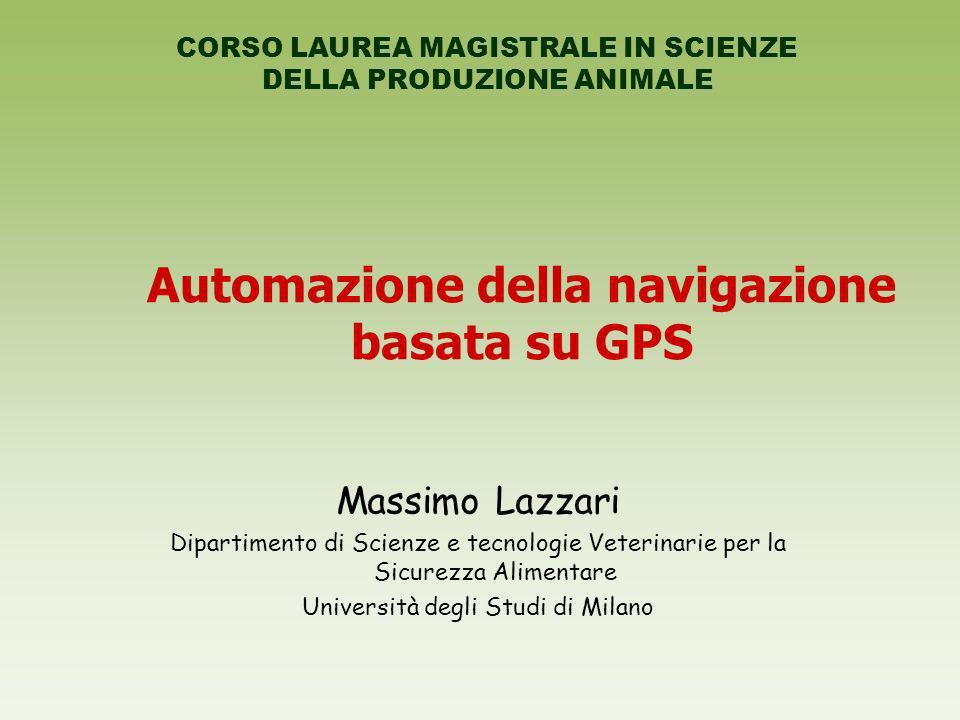 Automazione della navigazione basata su GPS
