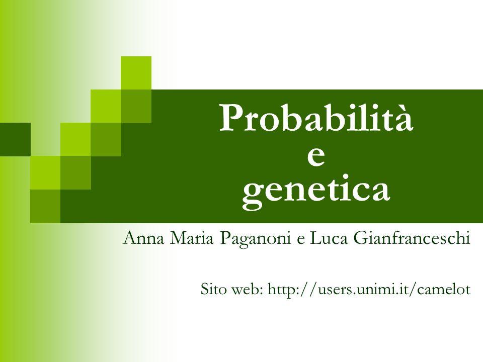 Probabilità e genetica