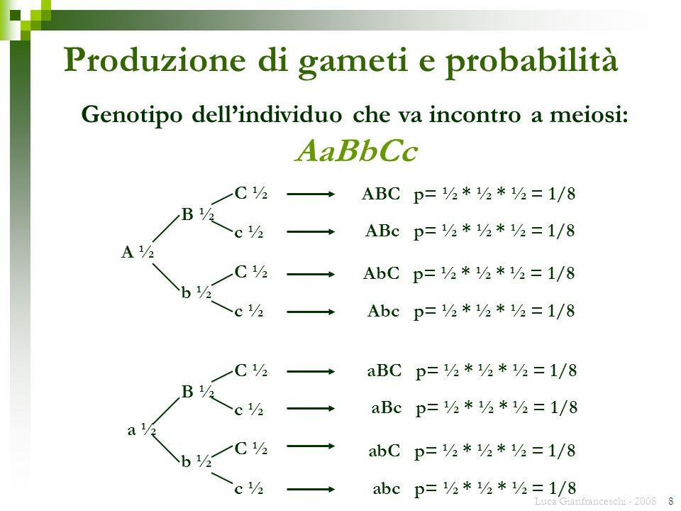 Produzione di gameti e probabilità