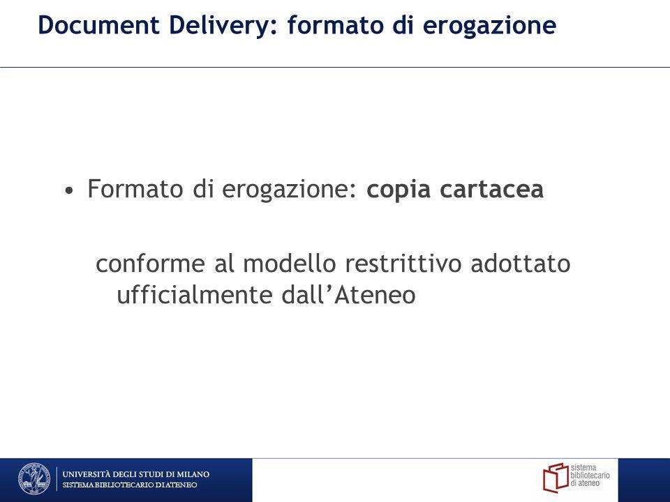 Document Delivery: formato di erogazione