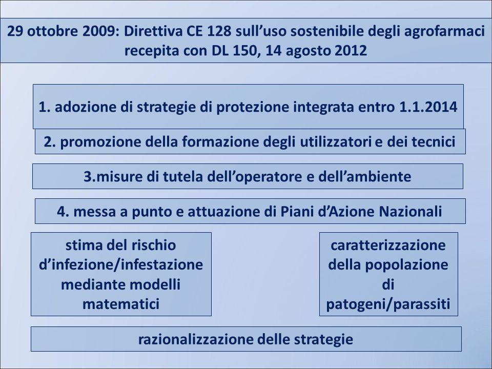 1. adozione di strategie di protezione integrata entro 1.1.2014