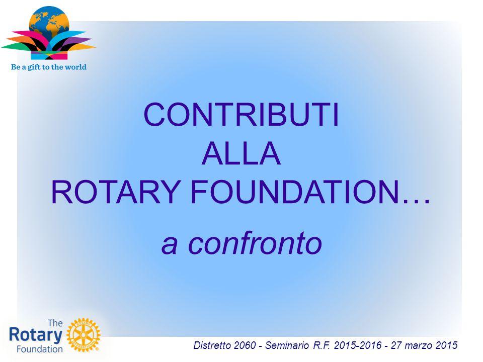 CONTRIBUTI ALLA ROTARY FOUNDATION…