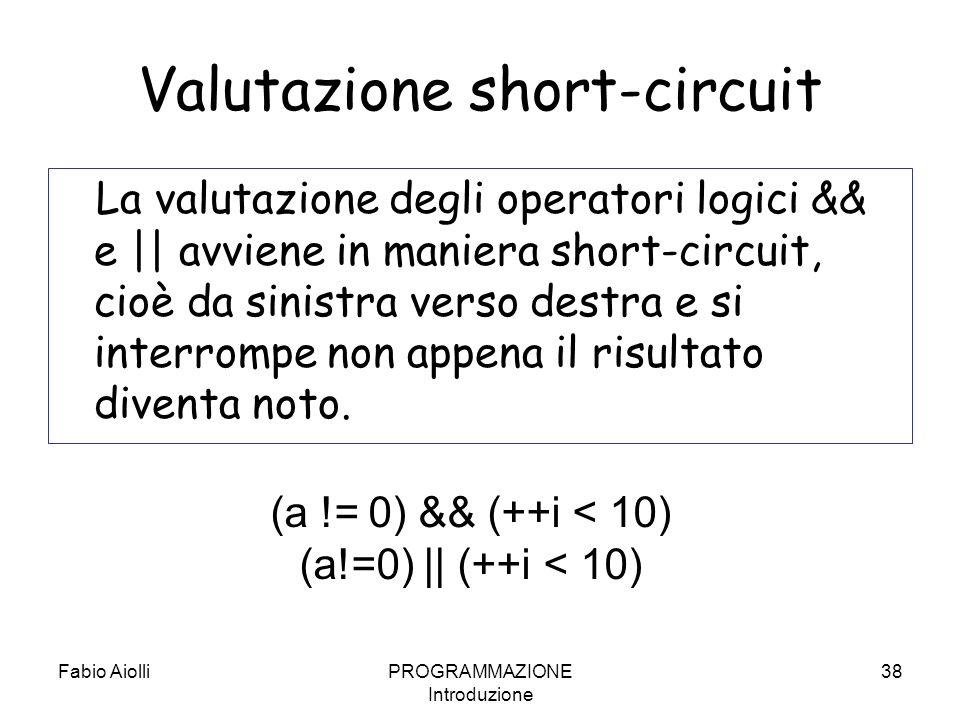 Valutazione short-circuit