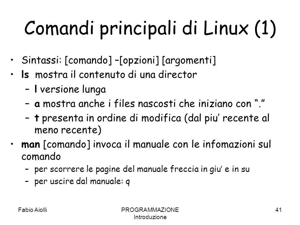 Comandi principali di Linux (1)