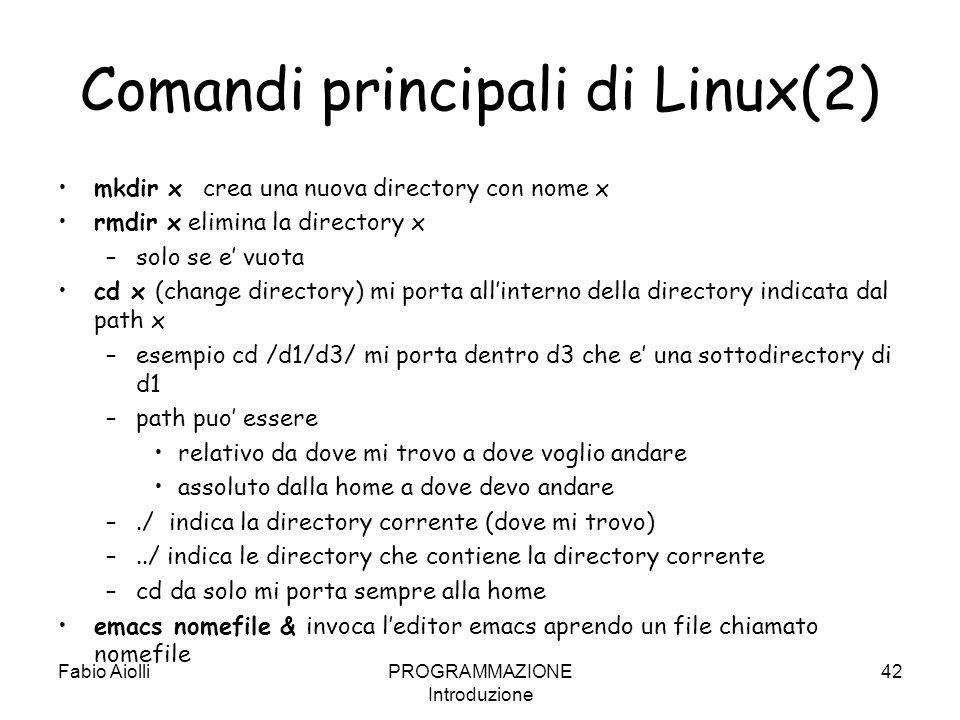 Comandi principali di Linux(2)