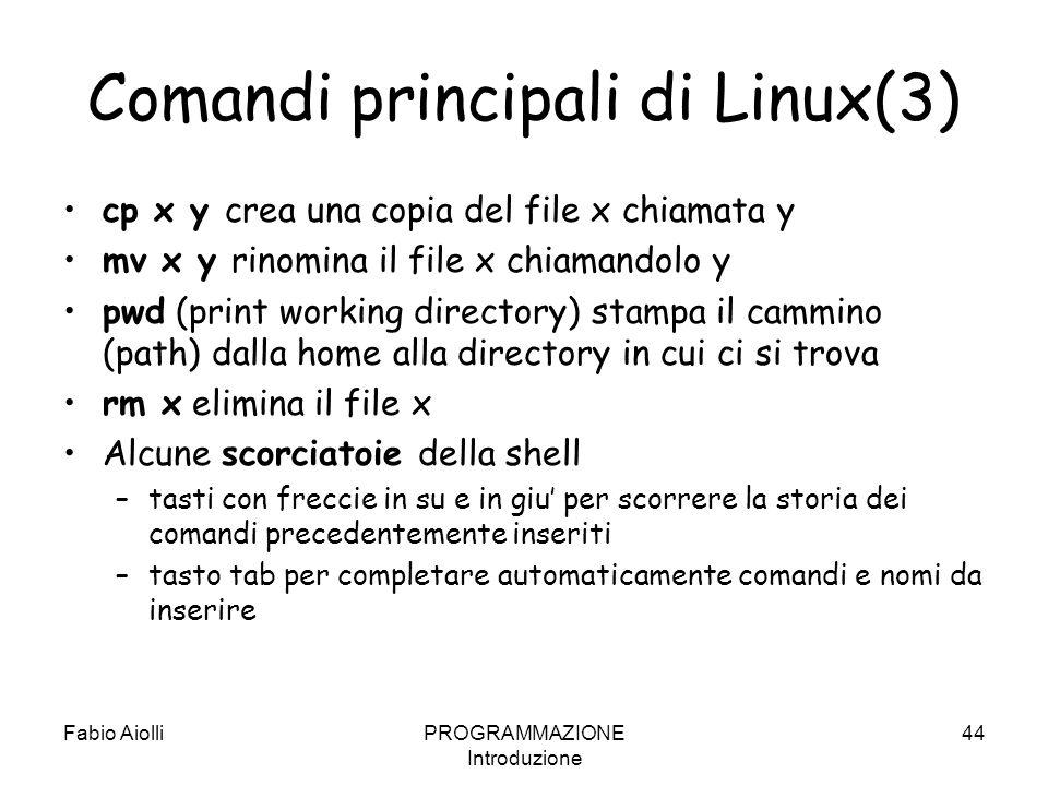 Comandi principali di Linux(3)