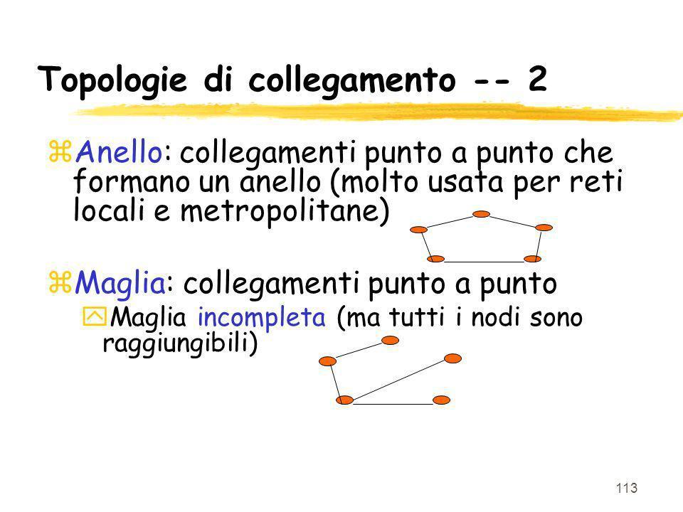 Topologie di collegamento -- 2