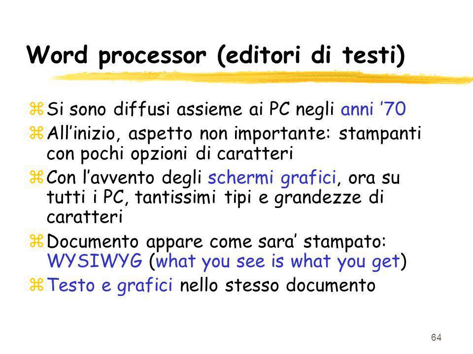 Word processor (editori di testi)