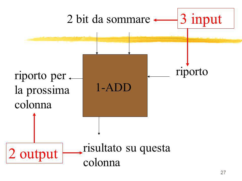 3 input 2 output 2 bit da sommare riporto