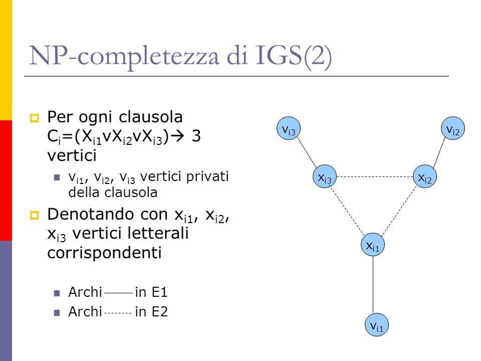 NP-completezza di IGS(2)