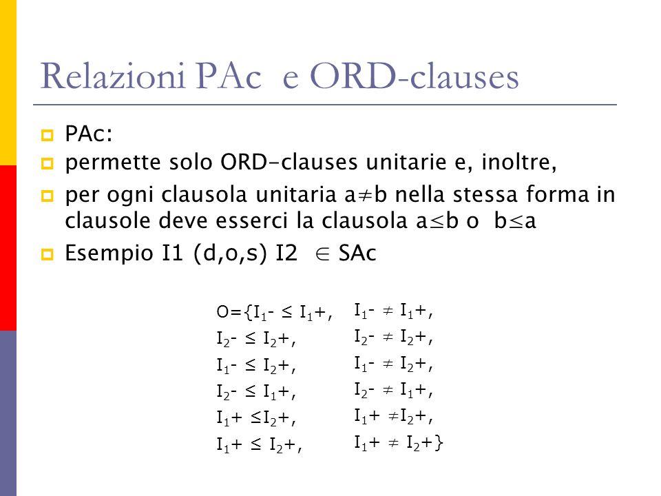 Relazioni PAc e ORD-clauses
