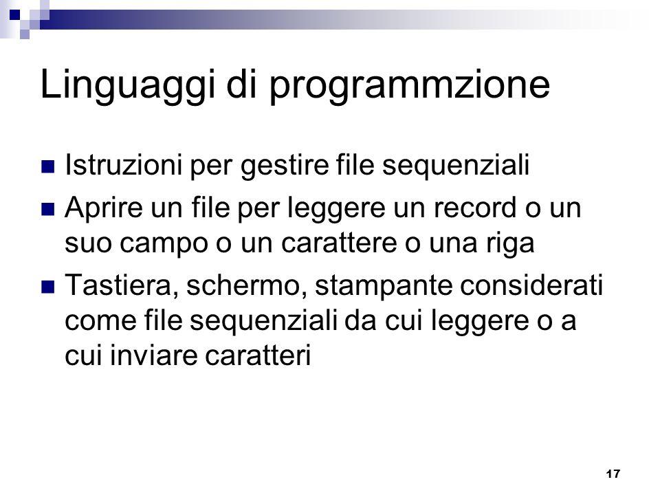 Linguaggi di programmzione
